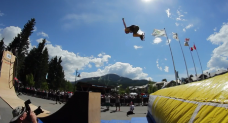 Whistler Longboard Fest Big Air and Bowl Fun 2013 6