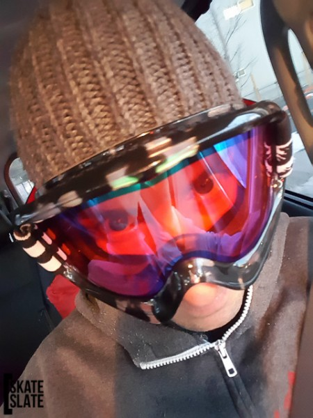 So stoked I needed to do a selfie with my new Revolt Goggles